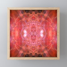 Fiery jewels fractal beauty Framed Mini Art Print