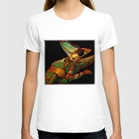 insects T-shirts featuring KARMA CHAMELEON by Catspaws
