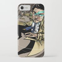 castiel iPhone & iPod Cases featuring Castiel by salternates