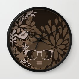 Afro Diva : Brown Sophisticated Lady Wall Clock