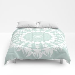 Baby Blue Mandala Comforters