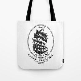 Fheen Ship Tea Cup  Tote Bag