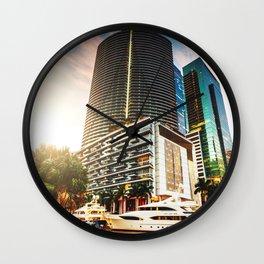 miami downtown Wall Clock