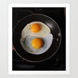 Yin Yang Eggs Art Print