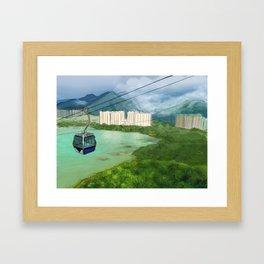 Cable Car in Hong Kong Framed Art Print