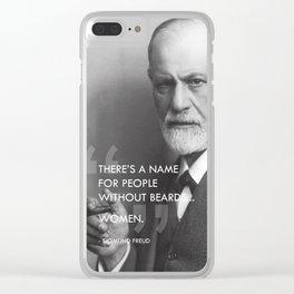 Sigmund Freud - Beards Clear iPhone Case