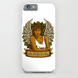 She Flies With Her Own Wings iPhone Case