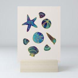 Beach Treasures - Aqua Mini Art Print