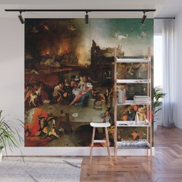 "Hieronymus Bosch ""Temptation of Saint Anthony"" (Antiga) 1 central panel Wall Mural"