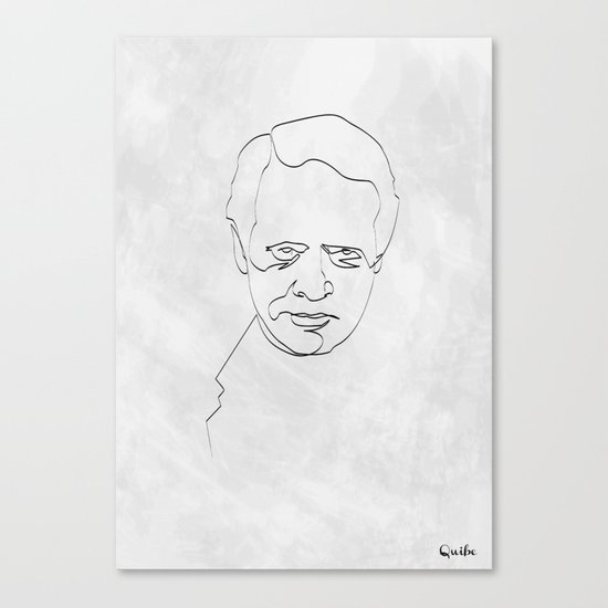One Line Number 6 Canvas Print