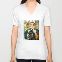 wings V-neck T-shirts featuring Wings by Peter Campbell