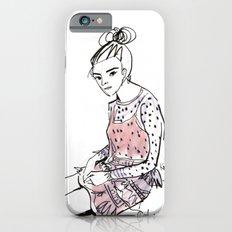 Lolita in a sheer pink polka dot dress  iPhone 6s Slim Case