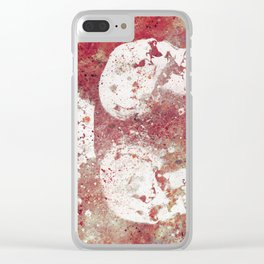 Blood Queendom (spray paint graffiti art, crown with skulls) Clear iPhone Case