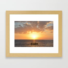 Boating into the Sunset Framed Art Print
