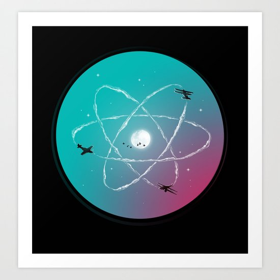 Atomic Formation Art Print