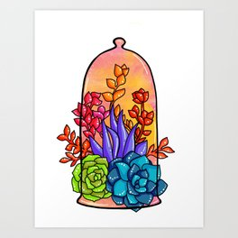 Colourful Terrarium Art Print