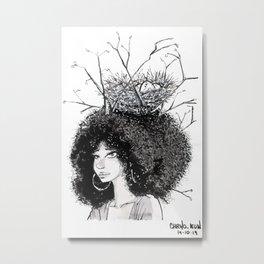 Overgrown afro Metal Print