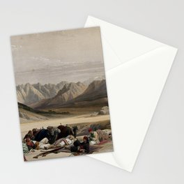 Vintage Print - The Holy Land, Vol 3 (1843) - Camels and a travelling party resting Stationery Cards