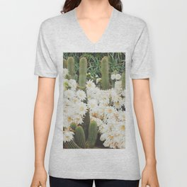Cactus and Flowers Unisex V-Neck