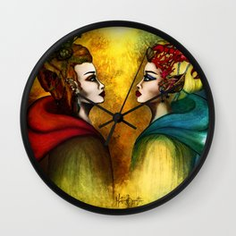 The two Halves of the World Wall Clock