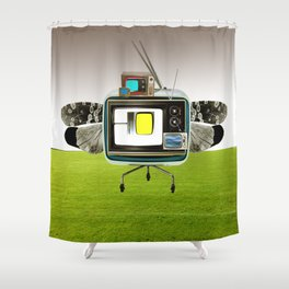 the truth is dead · the flying circus Shower Curtain