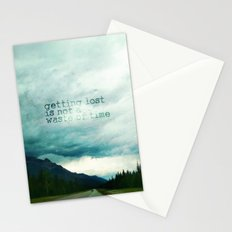 getting lost is not a waste of time Stationery Cards