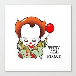 Pennywise From The Movie IT Canvas Print