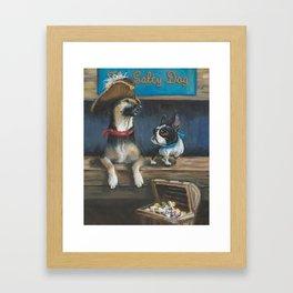 Salty Dogs Framed Art Print