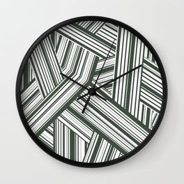 Abstract Crossing Stripes Pattern Wall Clock