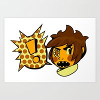 sticker Art Prints featuring Chip sticker by marvelousghost