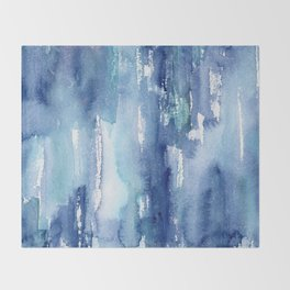 Blue vibes #2 || watercolor Decke