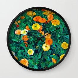 Koloman Moser Marigolds Wall Clock