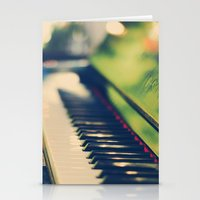 piano Stationery Cards featuring piano by Kristina Strasunske