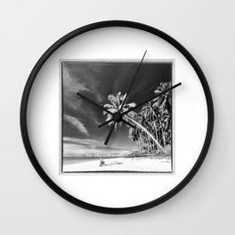 Indonesia, Coconut Palms in the Mentawai Islands Wall Clock