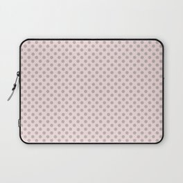 Taupe Polka Dots on Pink Laptop Sleeve