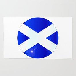 Scotish Flag Button Rug