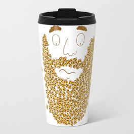 Mr Bee Beard Travel Mug