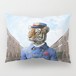 Postmaster Trenton Tigre on his Appointed Rounds Pillow Sham
