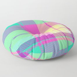 Summer Plaid 24 Floor Pillow