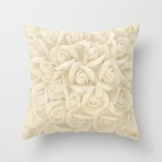 bunch of roses Throw Pillow