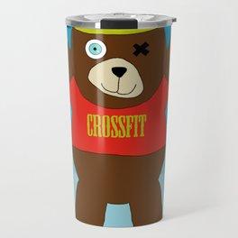 Crossfit Bear  Travel Mug