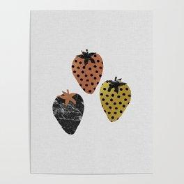 Strawberries Art Print Poster
