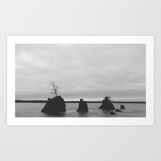 Land Meets Sea Art Print