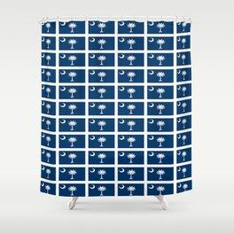 flag of south carolina 2-Savannah,Palmetto,Carolinian,Cotton,South,South carolina,Carolina Shower Curtain