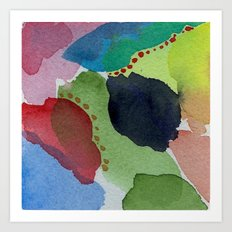 Watercolor Abstract Mini Series # 11 Art Print