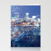 minneapolis Stationery Cards featuring Minneapolis Neon by Andrew C. Kurcan