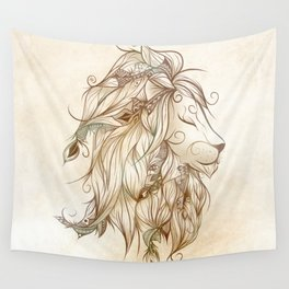 Poetic Lion Wall Tapestry