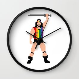 The Open Minded Barbarian Wall Clock