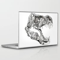t rex Laptop & iPad Skins featuring T Rex by Cherry Virginia