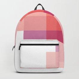 Geometric Case Study No. 2 | Coral + Raspberry Backpack